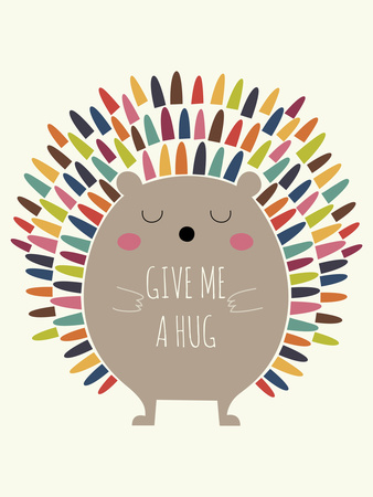 Give Me a Hug Giclee Print by Andy Westface