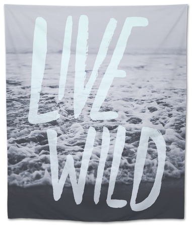 Live Wild Ocean Tapestry by Leah Flores
