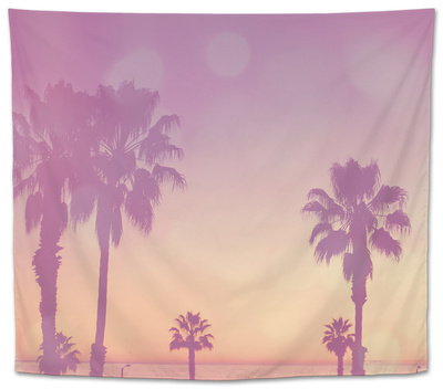 Palm Trees in California Tapestry by Myan Soffia