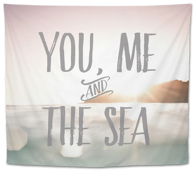 You Me + The Sea Tapestry by Rebecca Peragine