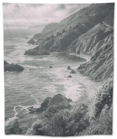 Majestic Big Sur Coastline, California Coast Tapestry by Vincent James