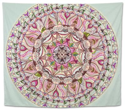 Colorful Mandala Design Tapestry by  shotsstudio