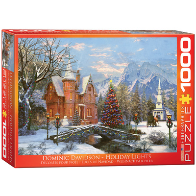 Holiday Lights by Dominic Davison 1000 Piece Puzzle Jigsaw Puzzle