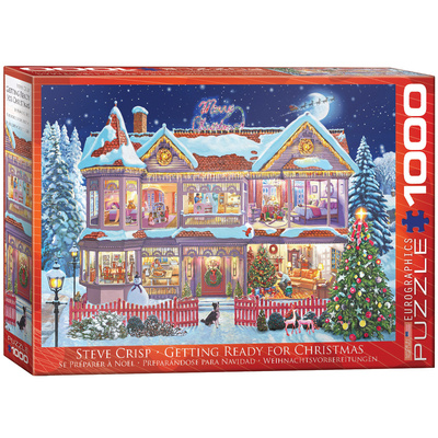 Getting Ready Christmas by Steve Crisp 1000 Piece Puzzle Jigsaw Puzzle