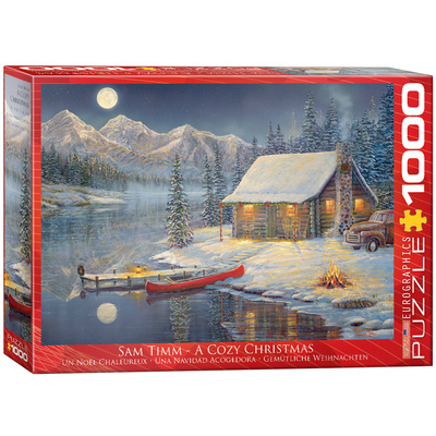 A Cozy Christmas by Sam Timm 1000 Piece Puzzle Jigsaw Puzzle