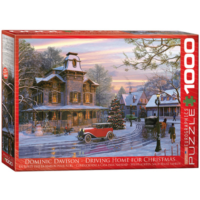 Driving Home for Christmas by Dominic Davison 1000 Piece Puzzle Jigsaw Puzzle