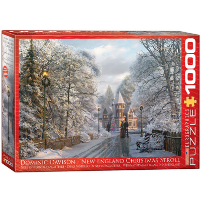 New England Christmas Stroll by Dominic Davison 1000 Piece Puzzle Jigsaw Puzzle