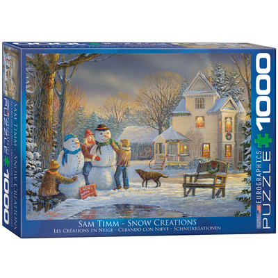 Snow Creations by Sam Timm 1000 Piece Puzzle Jigsaw Puzzle