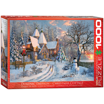Christmas Cottage by Dominic Davison 1000 Piece Puzzle Jigsaw Puzzle