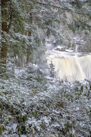 West Virginia, Blackwater Falls State Park. Blackwater Falls in Winter Photographic Print by Jaynes Gallery