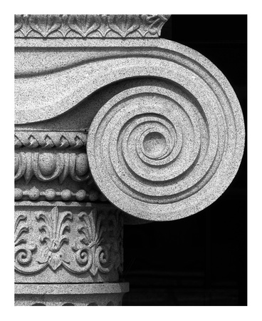 Column detail, U.S. Treasury Building, Washington, D.C. - Black and White Variant Prints by Carol Highsmith