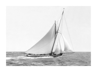 Cutter sailing on the ocean, 1910 Prints by  Anonymous