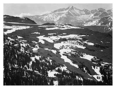 Long's Peak, in Rocky Mountain National Park, Colorado, ca. 1941-1942 アート : アンセル・アダムス
