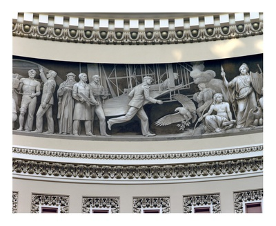 Wright Brothers frieze in U.S. Capitol dome, Washington, D.C. Posters by Carol Highsmith