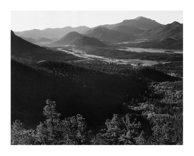 Rocky Mountain National Park, Colorado, ca. 1941-1942 ポスター : アンセル・アダムス