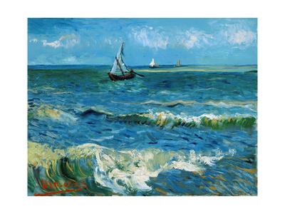 Seascape, 1888 Premium Giclee Print by Vincent van Gogh