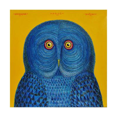 Blue Owl, 2015 Giclee Print by Tamas Galambos
