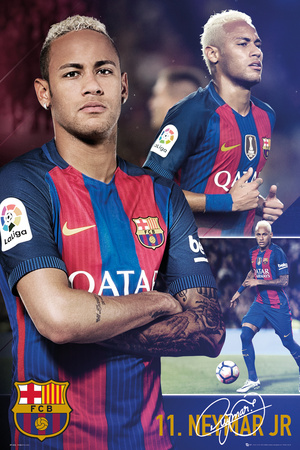 Barcelona Fcb- Neymar Collage Prints