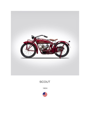 Indian Scout 1924 Giclee Print by Mark Rogan