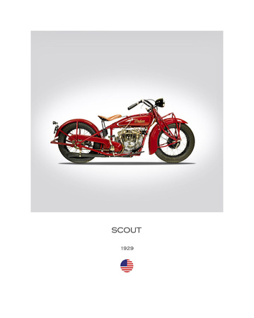 Indian Scout 101 1929 Giclee Print by Mark Rogan