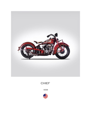 Indian Chief 1939 Giclee Print by Mark Rogan