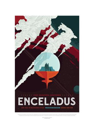Enceladus Gicléedruk van JPL