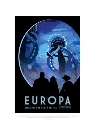 Europa-Discover Life Under The Gicléedruk van JPL