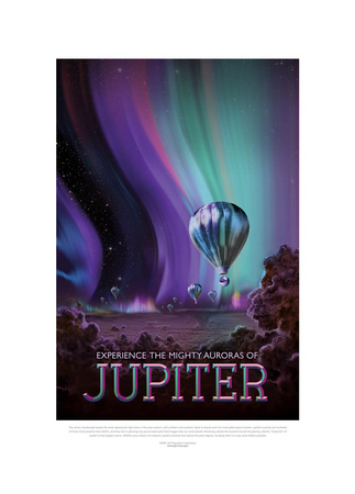 Experience The Mighty Auroras Gicléedruk van JPL