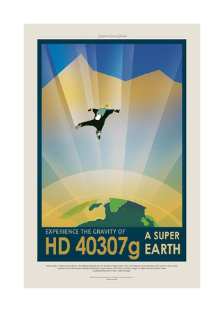 Super Earth Gicléedruk van JPL