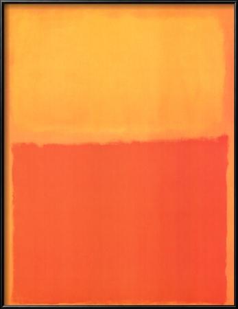 Arancione e giallo Poster di Mark Rothko
