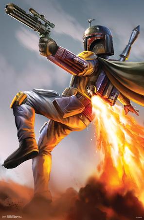 Star Wars- Boba Fett Rocket Action Posters