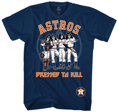 MLB: Kiss- Houston Astros Dressed To Kill Shirts