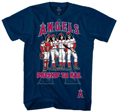 MLB: Kiss- Anaheim Angels Dressed To Kill T-shirts