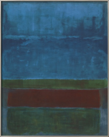 Blue, Green, and Brown Prints by Mark Rothko