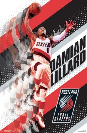 Portland Trail Blazers- D Lillard 17 Poster