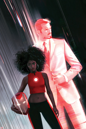 Invincible Iron Man 1 Variant Cover Art Featuring Ironheart, Riri Williams, Tony Stark Posters by Jeff Dekal