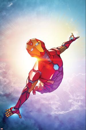 Invincible Iron Man 1, Sky, Clouds Cover Art Prints