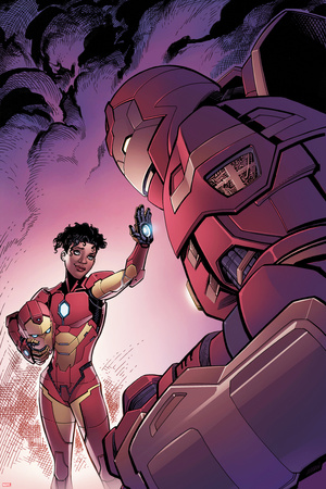 Invincible Iron Man 1 Variant Cover Art Featuring Ironheart, Riri Williams, Iron Man Photo by Tom Raney
