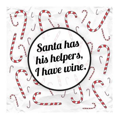 Santa's Helpers - Wine Prints by Ashley Hutchins