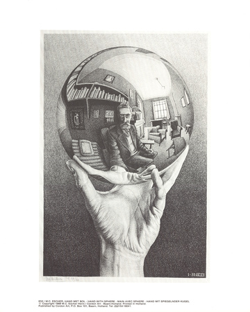Hand with Sphere Collectable Print by M.C. Escher