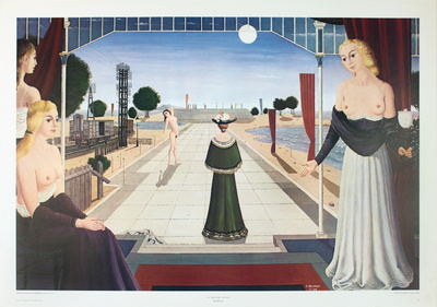 La Grande Allee Collectable Print by Paul Delvaux