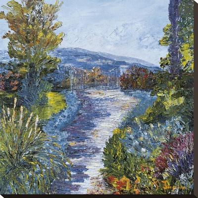 Le Jardin Fleuri Stretched Canvas Print by Tania Forgione