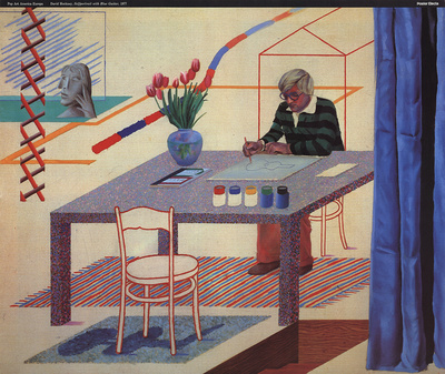 Self Portrait With Blue Guitar Collectable Print by David Hockney