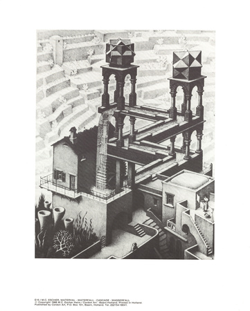 Waterfall Collectable Print by M.C. Escher