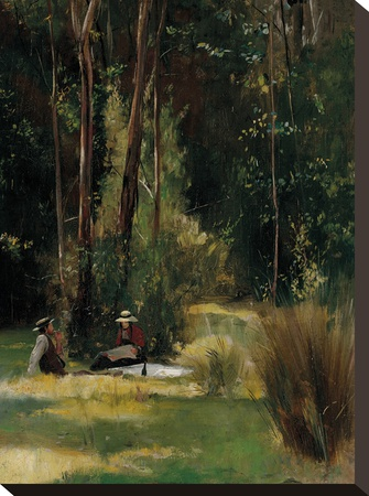 A Sunday Afternoon Stretched Canvas Print by Tom Roberts