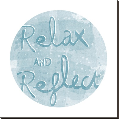 Mantra - Relax Stretched Canvas Print by Sasha Blake