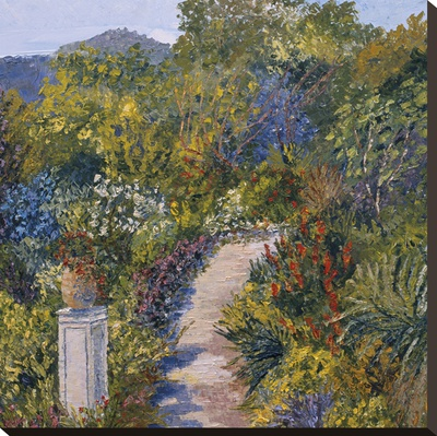 Gardens of Falaise Stretched Canvas Print by Tania Forgione