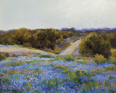 Bluebonnets at Late Afternoon Giclee Print