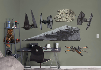 Star Wars EP7 RealBig Spaceships Collection Wall Decal