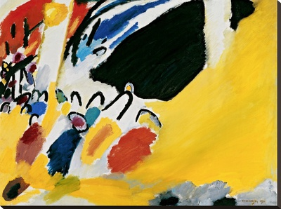 Impression III (Concert) Stretched Canvas Print by Wassily Kandinsky